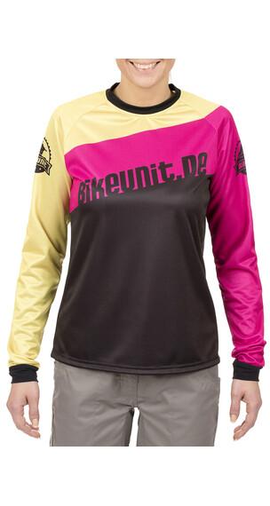 Bikeunit Pro DH Downhill trøje Damer pink/sort